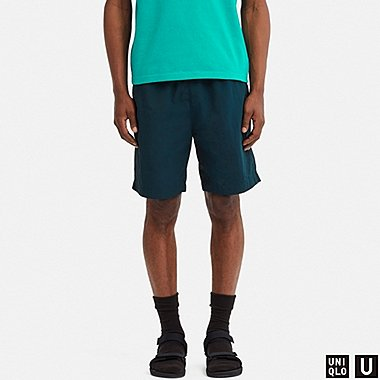 MEN U NYLON SHORTS, BLUE, medium