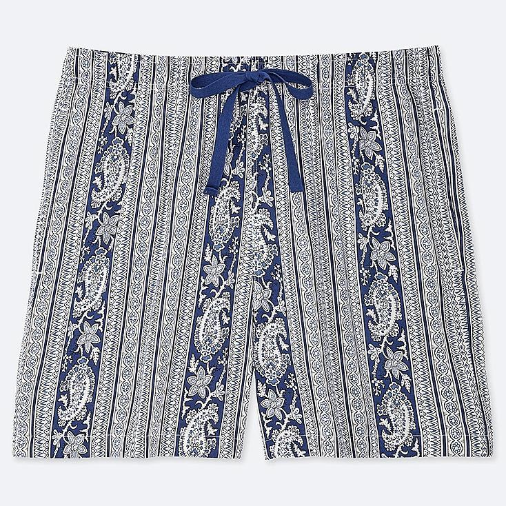 WOMEN PROVENCE PRINTED RELACO SHORTS, BLUE, large