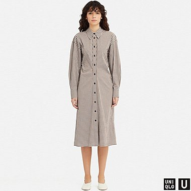 WOMEN UNIQLO U CHECKED SHIRT DRESS
