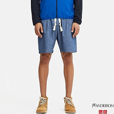 MEN RELAXED DRAWSTRING SHORTS (JW Anderson), BLUE, medium