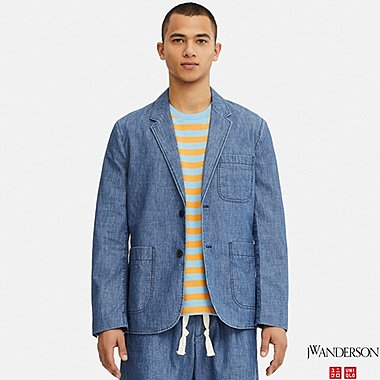 MEN JW ANDERSON CHAMBRAY TAILORED JACKET