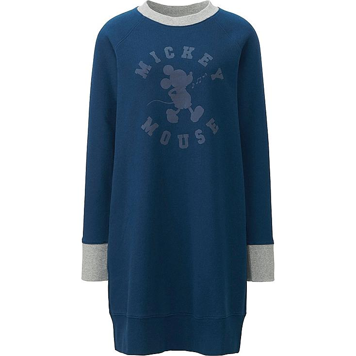 Women Disney Project Graphic Long Sleeve Dress, BLUE, large