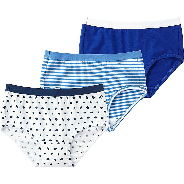 Girls Shorts, 3 Pack, BLUE, large