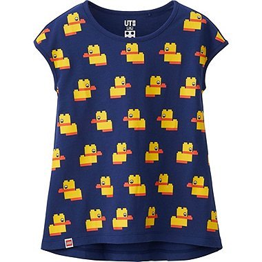 Girls LEGO® Graphic Tee, BLUE, medium