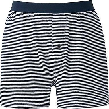 Mens Supima® Cotton Striped Boxer Briefs, BLUE, medium