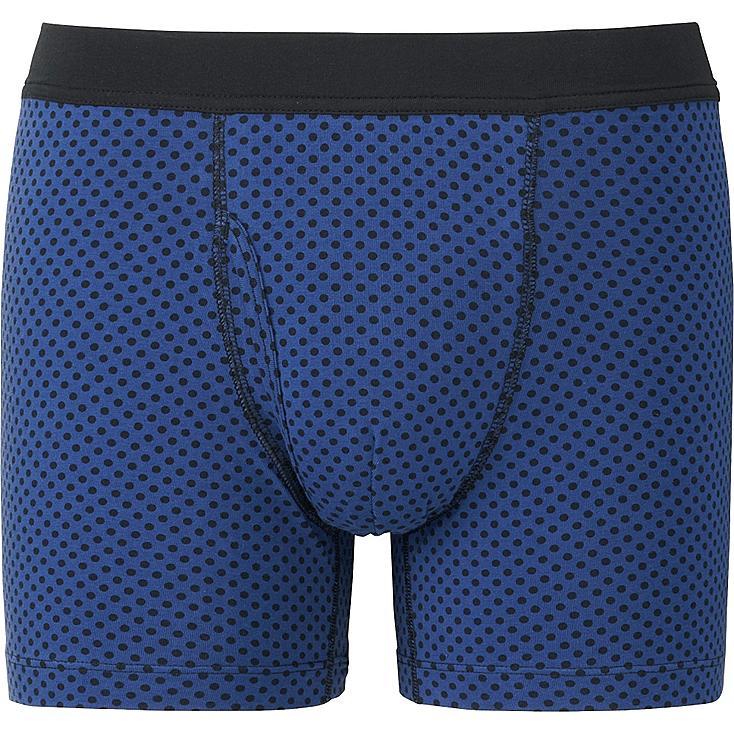 MEN Supima® COTTON SOFT BAND BOXER BRIEFS, BLUE, large