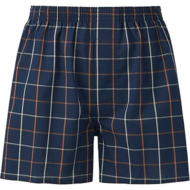 MEN WOVEN CHECKED TRUNKS, BLUE, medium