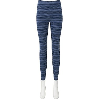 WOMEN LEGGINGS (FAIR ISLE), BLUE, medium