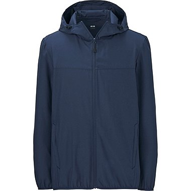 Men POCKETABLE PARKA, BLUE, medium