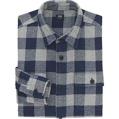 MEN Heavy Flannel Long Sleeve Shirt