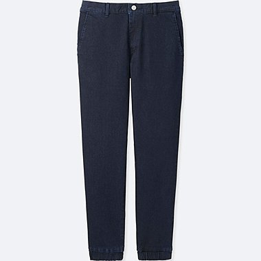 MEN JOGGER PANTS (DENIM), BLUE, medium