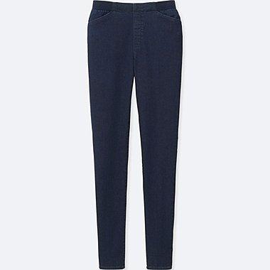WOMEN HEATTECH HIGH RISE LEGGINGS PANTS, BLUE, medium