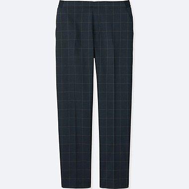 WOMEN SMART STYLE ANKLE LENGTH PANTS, BLUE, medium