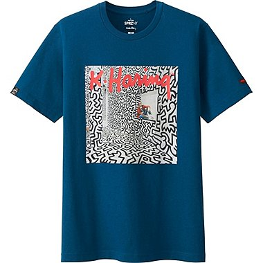 MEN SPRZ NY K.HARING SHORT SLEEVE GRAPHIC T-SHIRT, BLUE, medium