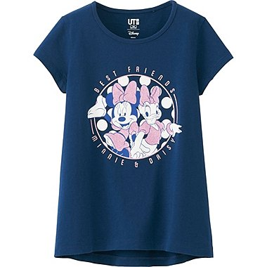 GIRLS DISNEY COLLECTION SHORT SLEEVE GRAPHIC T-SHIRT, BLUE, medium
