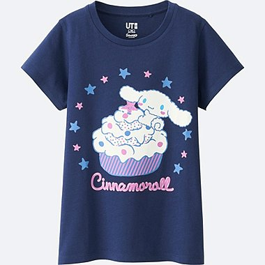 GIRLS SANRIO SHORT SLEEVE GRAPHIC T-SHIRT, BLUE, medium
