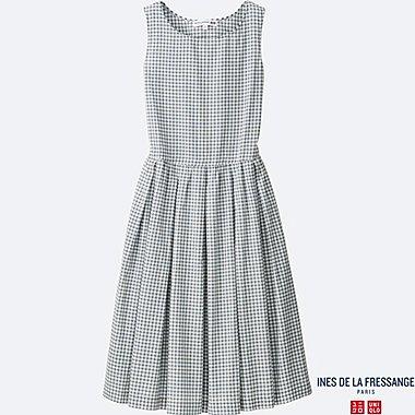 WOMEN INES Cotton Lawn Check Dress