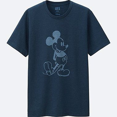 MEN MICKEY BLUE SHORT SLEEVE GRAPHIC T-SHIRT, BLUE, medium