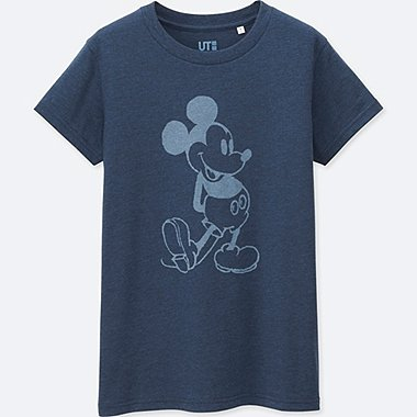 DAMEN T-Shirt Bedruckt MICKEY BLUE