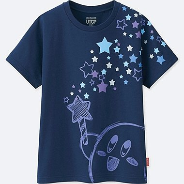 KIDS UTGP (NINTENDO) SHORT-SLEEVE GRAPHIC T-SHIRT, BLUE, medium