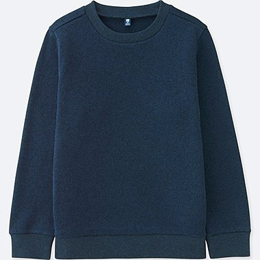 KIDS KNITTED FLEECE CREW NECK LONG SLEEVE T-SHIRT