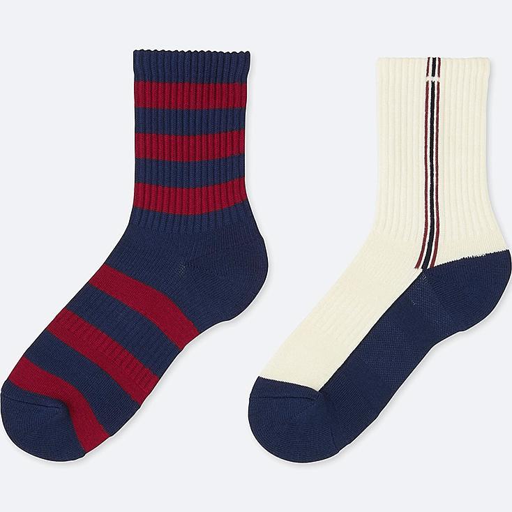 BOYS REGULAR SOCKS (2 PAIRS), BLUE, large