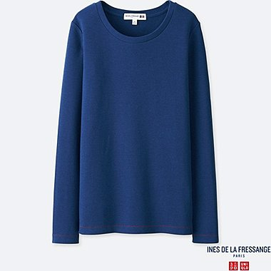 INES - T-SHIRT COL ROND MANCHES LONGUES FEMME