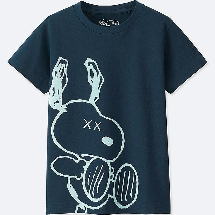 KIDS KAWS X PEANUTS SHORT-SLEEVE GRAPHIC T-SHIRT, BLUE, large