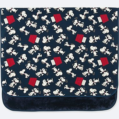 PEANUTS FLEECE BLANKET, BLUE, medium