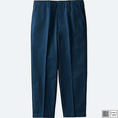 MEN UNIQLO U COTTON TWILL WIDE ANKLE LENGTH TROUSERS