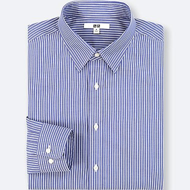 MEN EASY CARE STRIPED REGULAR FIT SHIRT (NO POCKET)