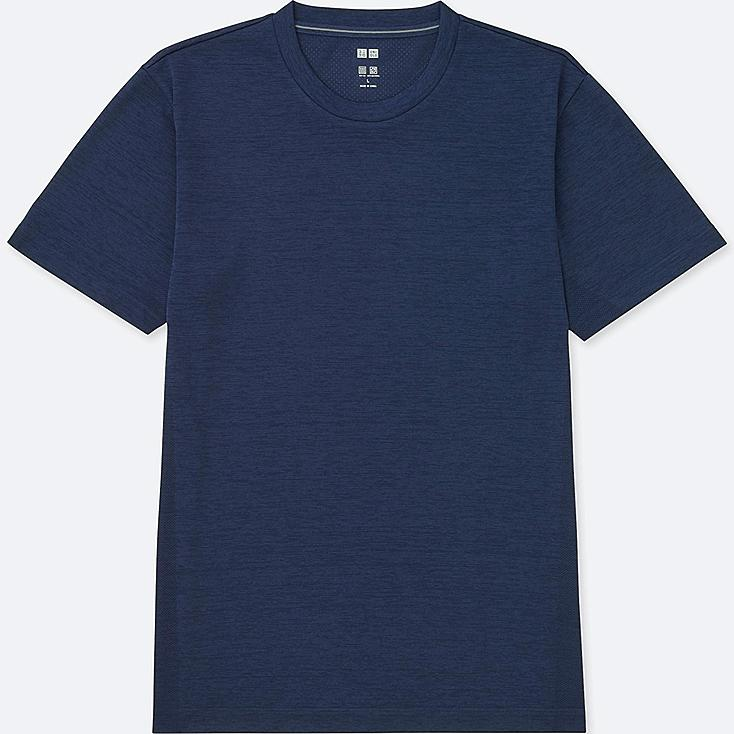 MEN DRY-EX CREWNECK SHORT-SLEEVE T-SHIRT, BLUE, large