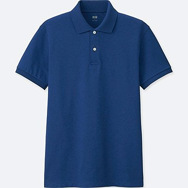 MEN DRY PIQUE SHORT-SLEEVE POLO SHIRT, BLUE, medium
