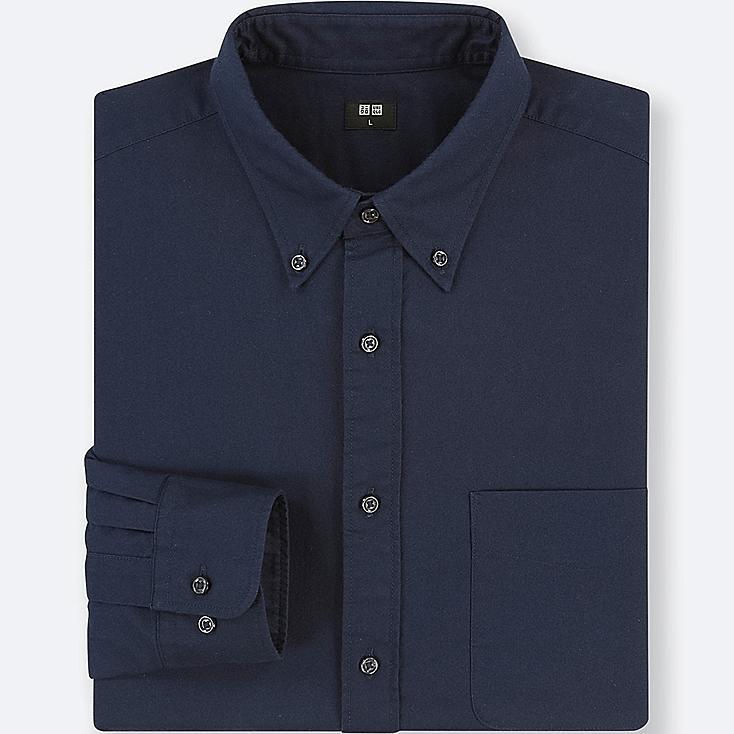 MEN OXFORD REGULAR FIT LONG-SLEEVE SHIRT (ONLINE EXCLUSIVE), BLUE, large