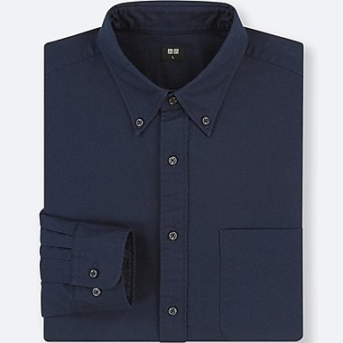 MEN OXFORD REGULAR-FIT LONG-SLEEVE SHIRT (ONLINE EXCLUSIVE), BLUE, medium