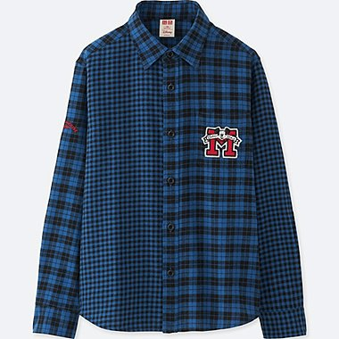 BOYS DISNEY FLANNEL LONG-SLEEVE SHIRT, BLUE, medium