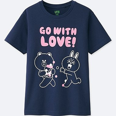 KIDS LINE FRIENDS SHORT-SLEEVE GRAPHIC T-SHIRT, BLUE, medium