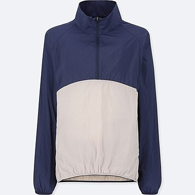 WOMEN LIGHT POCKETABLE HALF ZIP BLOUSON