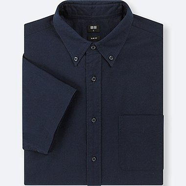 CHEMISE OXFORD SLIM FIT MANCHES COURTES HOMME