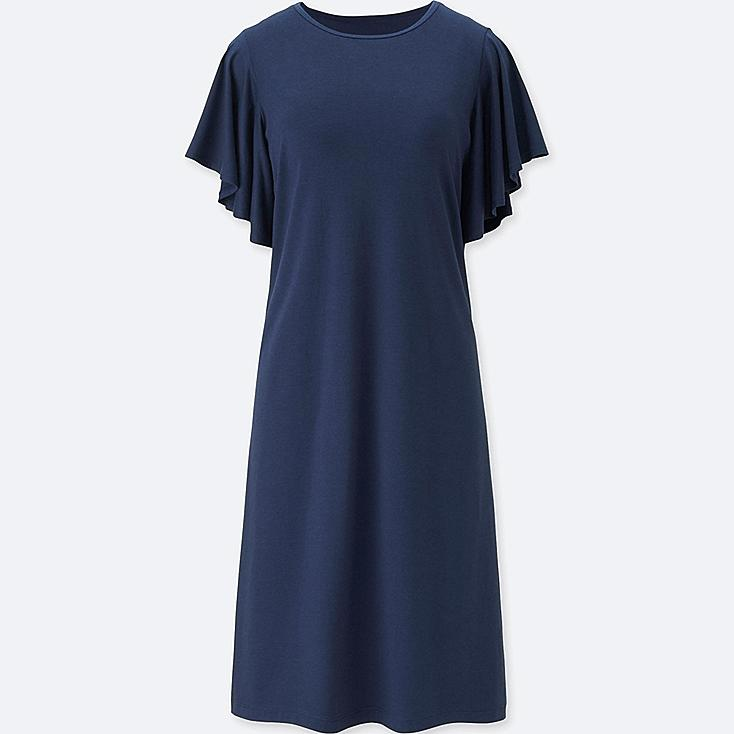 WOMEN FLARE SHORT-SLEEVE BRA DRESS at UNIQLO in Brooklyn, NY | Tuggl