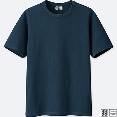 MEN U CREWNECK SHORT-SLEEVE T-SHIRT, BLUE, medium