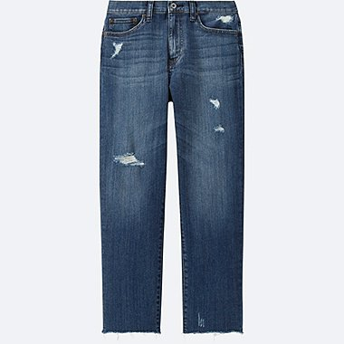 Women High Rise Boyfriend Fit Jeans
