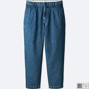 MEN U WIDE-FIT PLEATED PANTS, BLUE, medium