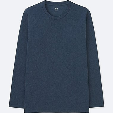 T-SHIRT SOFT-TOUCH COL ROND MANCHES LONGUES HOMME