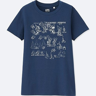 WOMEN DISNEY FANTASIA COLLECTION GRAPHIC T-SHIRT, BLUE, medium