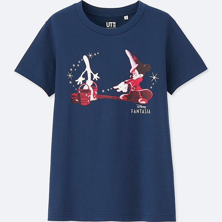 WOMEN DISNEY FANTASIA COLLECTION GRAPHIC T-SHIRT, BLUE, large