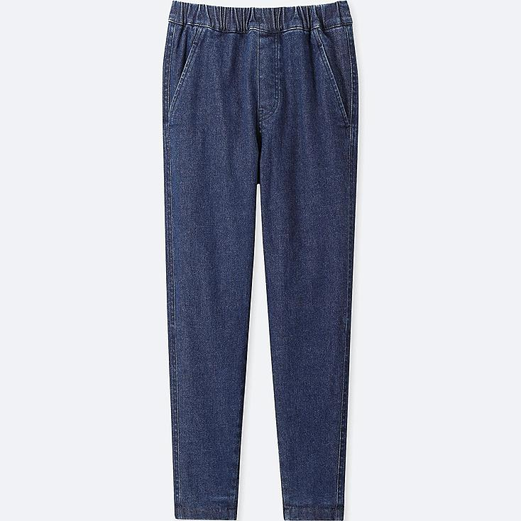KIDS STRETCH WARM-LINED PANTS, BLUE, large
