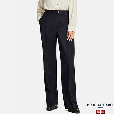 WOMEN INES WOOL BLENDED WIDE TROUSERS