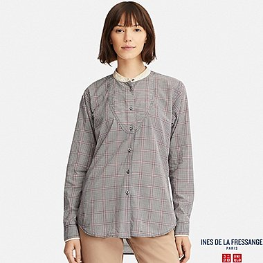 WOMEN INES COTTON LAWN LONG SLEEVED SHIRT