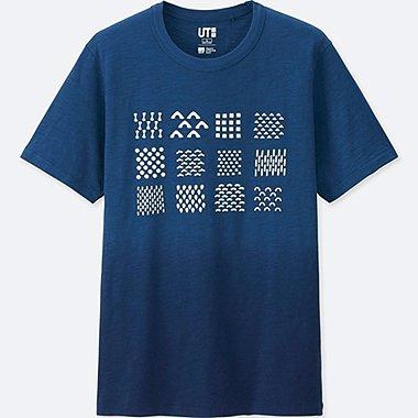 MEN KATAGAMI SHORT-SLEEVE GRAPHIC T-SHIRT, BLUE, medium